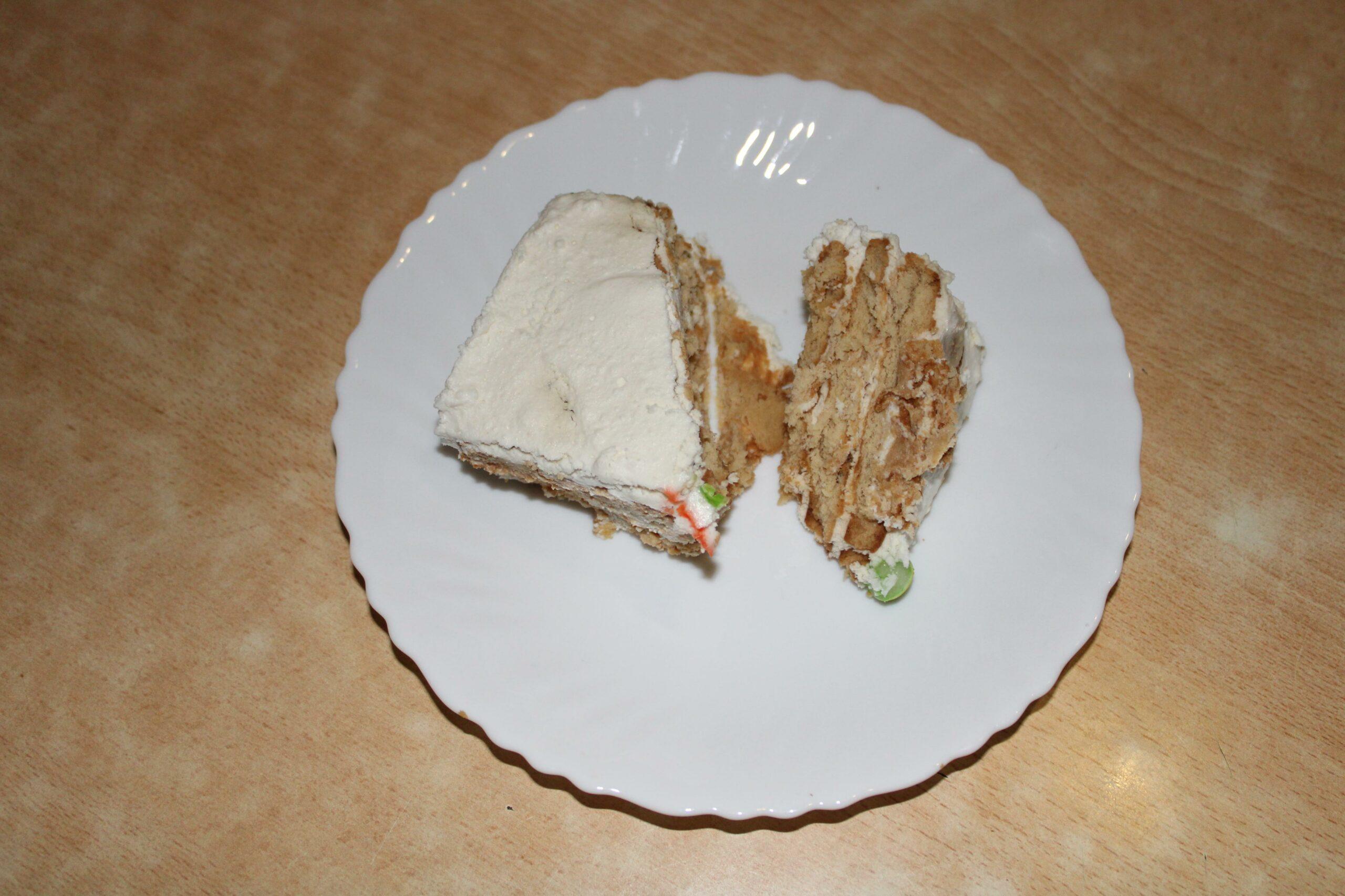 Торт без выпечки из сахарного печенья