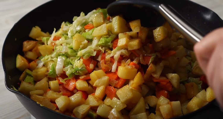 Как приготовить рагу из овощей в лаваше?