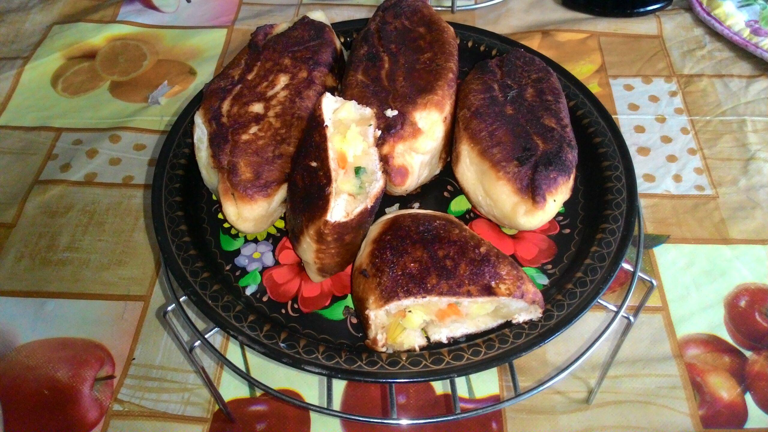 Пирожки жареные с картошкой и тыквой