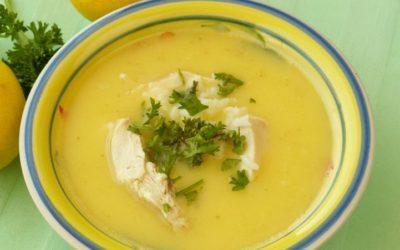 Рецепт. Лимонный суп с курицей