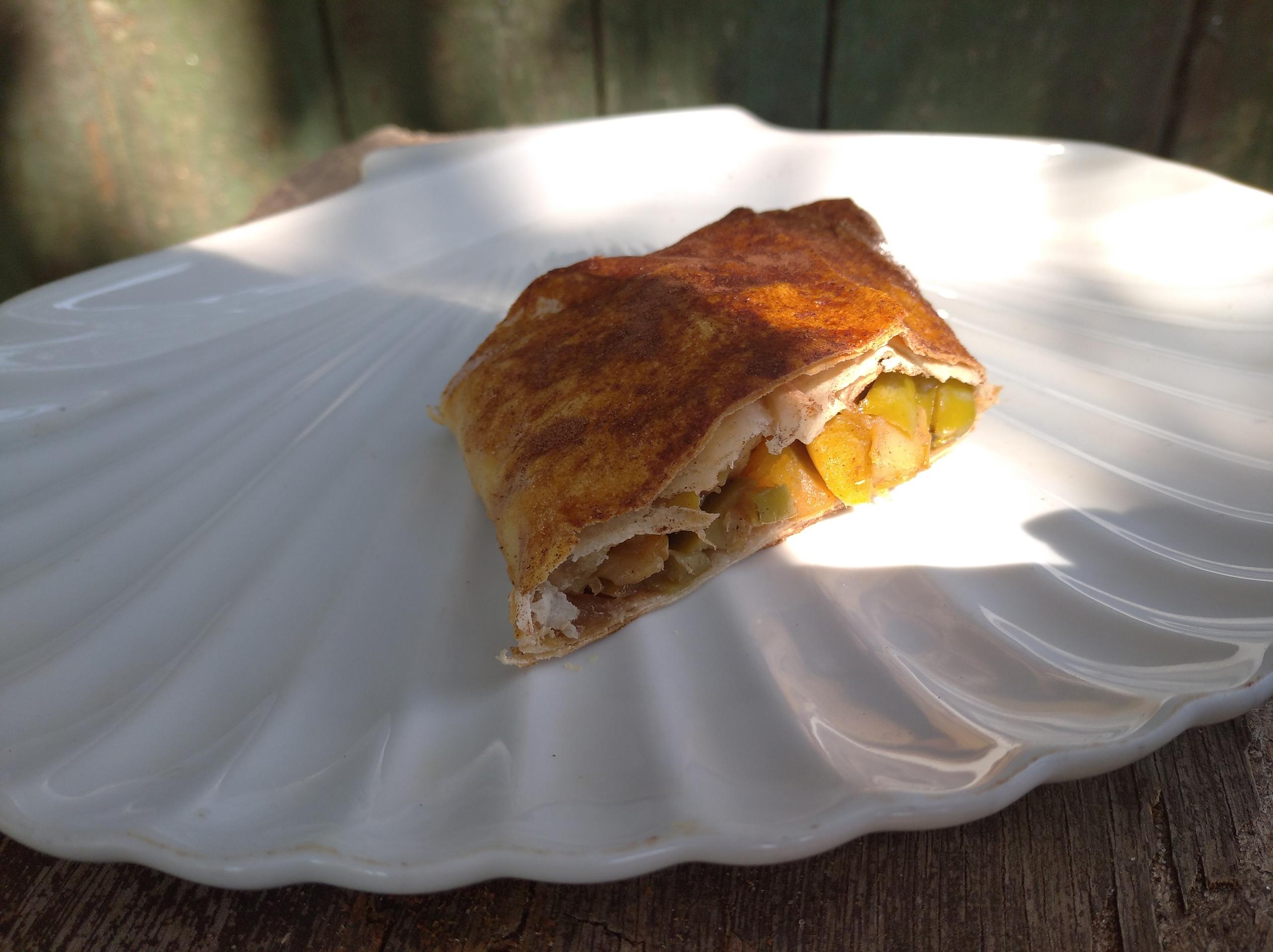 Пошаговый фото-рецепт яблочного штруделя из лаваша