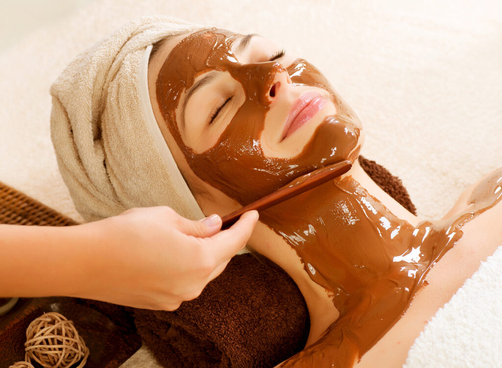 Очищающая шоколадная маска для лица