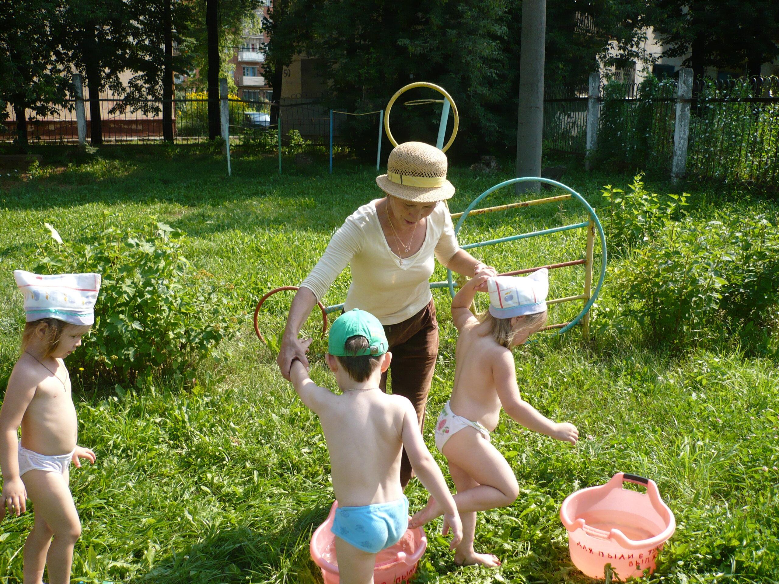 Закаливание детей старше 3 лет