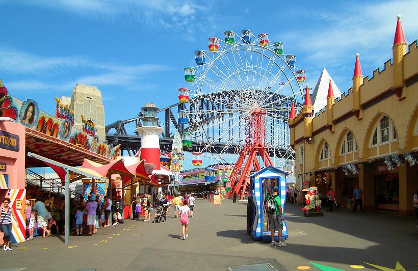 Сидней: прогулка по луна-парку