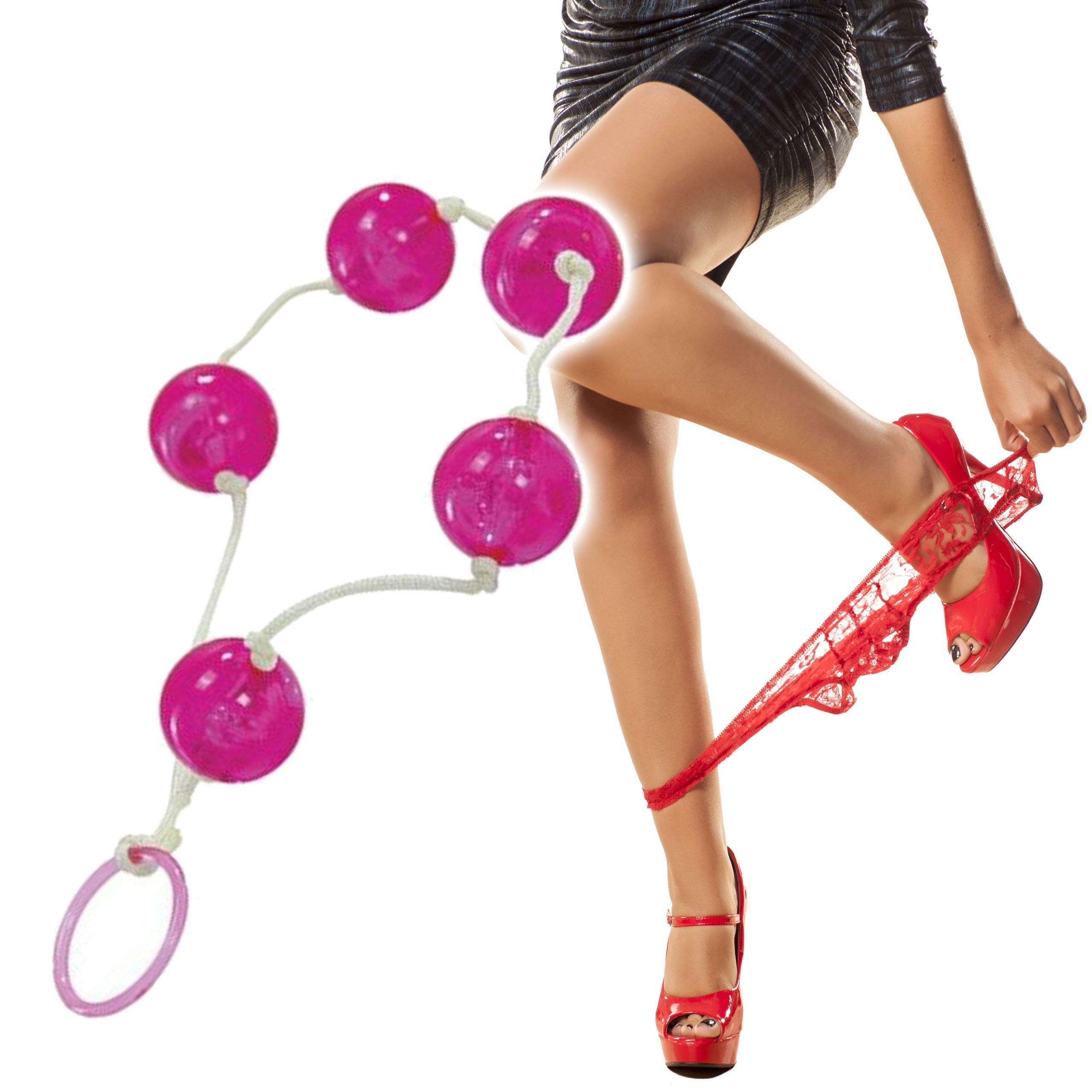 Анальные шарики - женское счастье