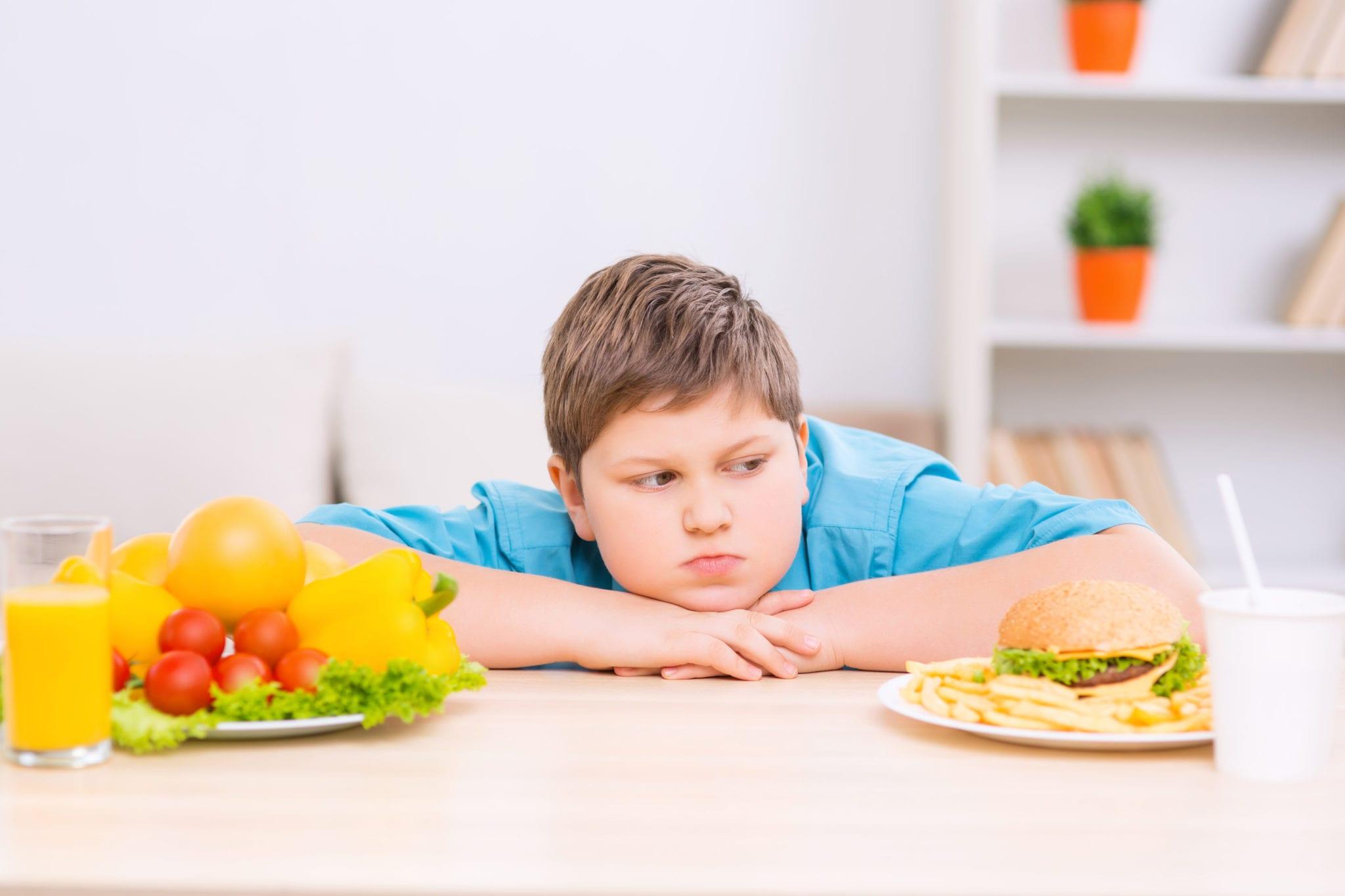 Борьба с лишним весом у ребёнка